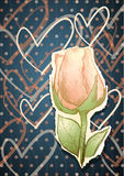 Romantic background with rose royalty free illustration