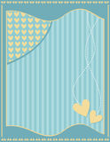 Romantic background with stripes and hearts Stock Images