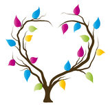 Heart tree. Romantic background, symbol of love Royalty Free Stock Photography