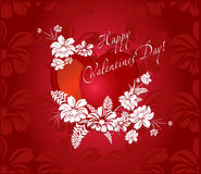 Romantic background for valentine day Stock Photos