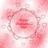 Romantic background for Valentines Day with hearts. Romantic background for your design vector illustration