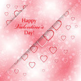 Romantic background for Valentines Day with hearts. Romantic background for your design stock illustration