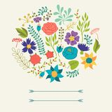 Romantic background of various flowers in retro Royalty Free Stock Photo