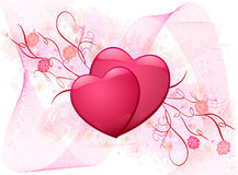 Romantic background vector illustration Royalty Free Stock Photography