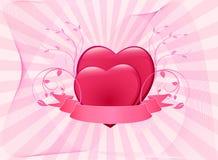 Romantic background vector illustration Stock Photography