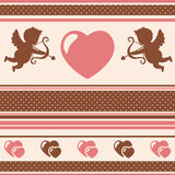 Romantic background. Vector illustration. Royalty Free Stock Images