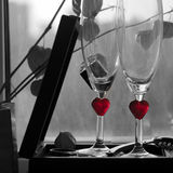 Romantic Background With Wine Royalty Free Stock Photo