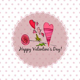 Romantic backgroundfor valentines day Royalty Free Stock Photos