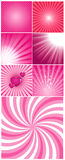 Romantic Backgrounds. Abstract Decorative Valentine's Day Festive Backgrounds Vectors stock illustration