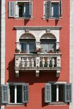 Romantic balcony on the medival building Stock Photography