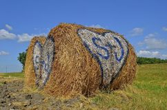 Romantic  Bale of Hay Royalty Free Stock Photography