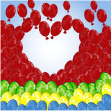 Romantic balloon background Royalty Free Stock Photography