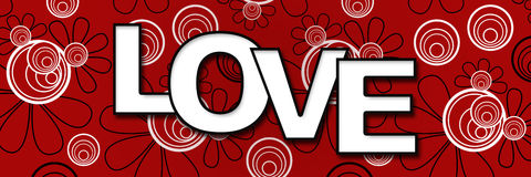 Love Banner - Red Black White Royalty Free Stock Photos
