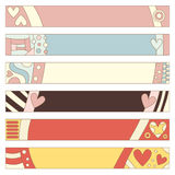 Romantic banner or tag collection Stock Image