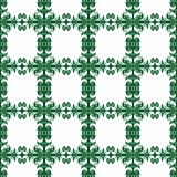 Square Frames Wallpaper Seamless Pattern. Romantic baroque green squared frames wallpaper background seamless pattern Stock Images
