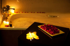 Romantic bathtub Royalty Free Stock Photos