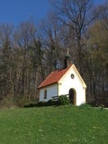 Romantic Bavarian Chapel in Spring Stock Photography