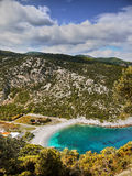 Romantic Bay. With a beach - view from the top of the limestone peaks Royalty Free Stock Photography