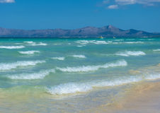 Romantic beach of majorca with clear water Royalty Free Stock Photography