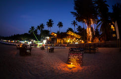 Romantic beach at night in Goa Royalty Free Stock Photography