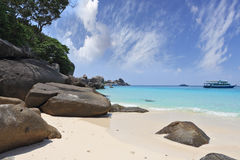 A romantic beach in the Similan Islands Royalty Free Stock Images