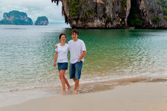 Romantic beach vacation in Thailand Royalty Free Stock Photos