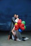 Romantic beach wedding at night Royalty Free Stock Images
