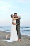 Romantic beach wedding at sunset Royalty Free Stock Photos