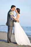 Romantic beach wedding at sunset Royalty Free Stock Photo
