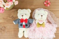 Romantic Bear on vintage retro color tone Stock Photo