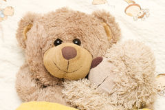 Romantic bears. Two romantic bears in bed Royalty Free Stock Image
