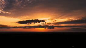 Romantic and a beautiful five-morning dawn in Europe Ukraine. H.265. HD 1080p. 1920x1080. Without noise. 25 frame rate