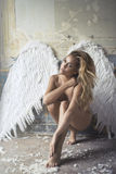 Romantic beauty as an angel Stock Photo