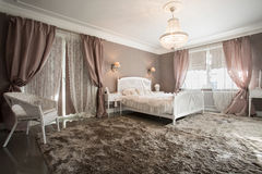 Romantic beauty bedroom Royalty Free Stock Images