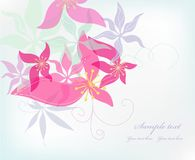 Romantic beauty flower background. Vector Royalty Free Stock Images