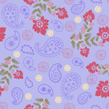Romantic Beauty pattern with Flower and  Paisley Royalty Free Stock Photography