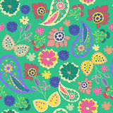 Romantic Beauty pattern with Flower and  Paisley Royalty Free Stock Images