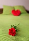 Romantic bed Stock Photo