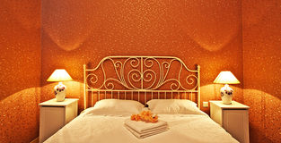 Romantic bedroom interior Stock Photography