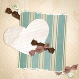Romantic beige vintage illustration with candies Stock Photo