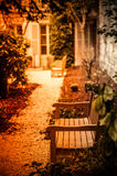 Romantic Bench in Paris, France Royalty Free Stock Images