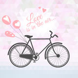 Romantic bicycle with balloons Royalty Free Stock Photography