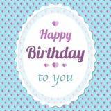 Romantic birthday card Royalty Free Stock Photos