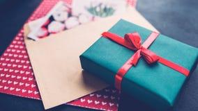 Romantic birthday surprise teal blue gift box