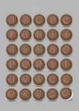 Romantic biscuits cipher text. You are my sweetie. Artistic alphabet with encrypted romantic message You are my sweetie. Chocolate cookies with graceful decor Stock Image