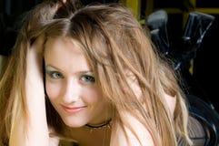 Romantic blond stock photo