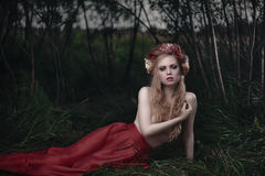 Romantic blond woman Stock Images