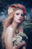 Romantic blond woman Royalty Free Stock Photography