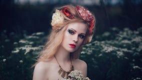Romantic blond woman Stock Image