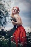 Romantic blond woman Stock Photo